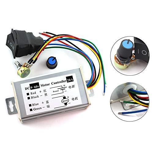DZS Elec 1pc DC Motor Speed Controller 9-60V Forward/Reverse
